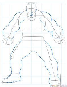 How To Draw Hulk Step By Step Drawing Tutorials For Kids And