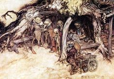 Arthur Rackham - illustration for A Midsummer Night's Dream