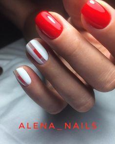 Creative Makeup, Creative Nails, Red Manicure, Coral Nails, Finger, Short Nail Designs, Nail Trends, Short Nails, Nail Inspo