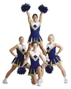 Beginner level cheerleading routines consist of lower level skills such as thigh stands for stunting. Beginner level cheerleading routines consist of lower level skills such as thigh stands for stunting. Easy Cheerleading Stunts, Cheerleading Cheers, School Cheerleading, Cheer Coaches, Cheer Mom, Competitive Cheerleading, Cheerleading Uniforms, Cheer Hair, Cheer Uniforms