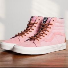 39f94fb94b NWT Vans year of the horse NWT Rare baby pink faux horse hair SK-8