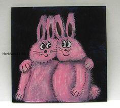 DIE ROSA HASEN KOMMEN Nr. 3 von Herbivore11 Hase Minibild Liebe Comic Legekarte