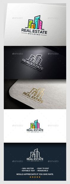 Real Estate Logo Template #design #logotype Download: http://graphicriver.net/item/real-estate-logo/11392777?ref=ksioks