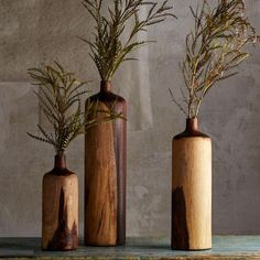 Rosewood Bottle vases ~ Hand-Crafted by artisans in Indonesia via www.worldmarket.com #CRAFTBYWORLDMARKET: