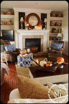 STONEGABLE FALL HOUSE TOUR This Is One Of My Favorite Rooms (good Mantel  Styling) Colors,furniture.it Looks So Comfortable. Part 77