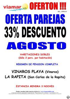 Especial Parejas en Vinaros Playa y Htl La Rapita 33% descuento en Agosto - http://zocotours.com/especial-parejas-en-vinaros-playa-y-htl-la-rapita-33-descuento-en-agosto/