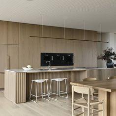 Kitchen Room Design, Interior Design Kitchen, Interior Desing, Interior Architecture, Timber Kitchen, Beach House, House Plans, House Ideas, New Homes