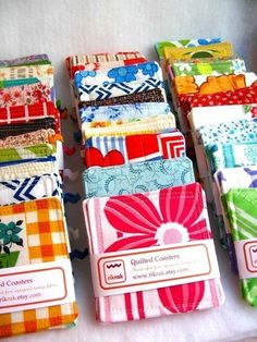 Recycled Vintage Fabric Coasters