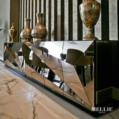 Luxury Furniture, Furniture Design, Bed Furniture, Console Table Styling, Office Table Design, Bedroom Cupboard Designs, Ceiling Murals, Luxury Dining Room, Minimalist Furniture