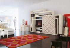 Marchetti mobilificio d'arte s.p.a. - Bookcase with sliding door inlaid