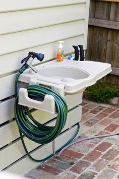 Exceptional Amazon.com: Portable Outdoor Sink With Detachable Hose Reel U0026 Garden Tool  Holder: