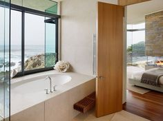 I would never leave this tub! Otter Cove Residence by Sagan Piechota Architecture