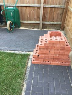 My brother built me this awesome masonry BBQ in my back garden!
