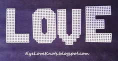 EyeLoveKnots: Plastic Canvas Alphabet - Sugar Tart Crafts - Pattern REVIEW