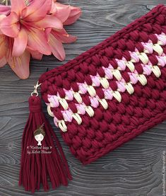 Free Crochet Bag, Crochet Clutch, Crochet Rope, Crochet Art, Crochet Purses, Learn To Crochet, Crochet Bikini, Stitch Patterns, Crochet Patterns
