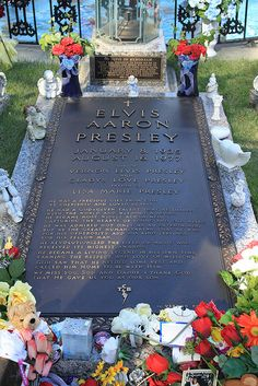Elvis Presley, the King of Rock & Roll, died on August 16, 1977 at his home, Graceland, in Memphis, TN. The coroner recorded the cause of death as cardiac arrhythmia. Elvis' body is buried at Graceland.