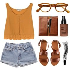 A fashion look from March 2013 featuring River Island tops, Levi's shorts and H&M sandals. Browse and shop related looks.