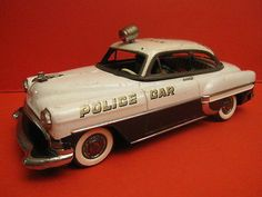 MARUSAN CHEVROLET POLICE CAR Battery operated , WORKING , MADE IN JAPAN
