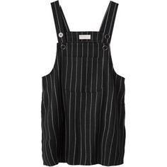 [DRESS]스트라이프 오버롤 원피스