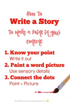 How to write a story to make a point in content or copy with Word Wise at Nonprofit Copywriter Writing Resources, Blog Writing, Creative Writing, Writing A Book, Writing Prompts, English Writing, Writing Help, Writing Ideas, Writing Skills