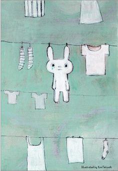bunny postcard by Yumi Moriwaki