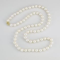 786faf2e5d58 14K Cultured Japanese Akoya Pearl Strand by DonnaPizarroDesigns Collar De  Perlas