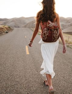 Open road and a backpack.