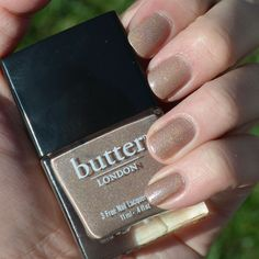 {Mani Monday} All Hail the Queen by Butter London #nails #nailpolish #shimmer #nudes