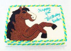 Buttercream horse cake