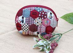 Cotton Coin Purse Patchwork PatternWomen Zipper by LaLannaThai