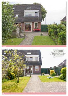 Tuin voor en na verkoopstyling door De Vastgoedstyliste.   www.devastgoedstyliste.nl