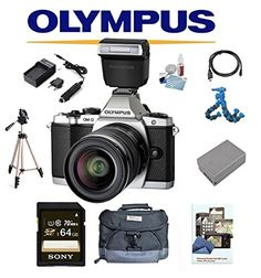 Olympus OMD EM5 Mark II W 1250mm Lens  Olympus FLLM3 Flash 64GB Deluxe Kit OMD EM5 OMDEM5 OMD EM5 OMD MII M2 Silver ** Check this awesome product by going to the link at the image.
