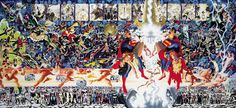 Crisis on Infinite Earths cover by George Perez and Alex Ross