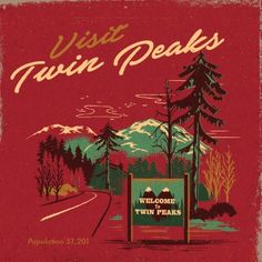 Welcome to Twin Peaks matchbook series | Designer: Steven Rhodes