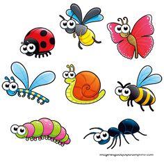 Imprimir insectos-Imagenes y dibujos para imprimir