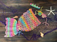Mermaid Crochet Tail Set Pattern