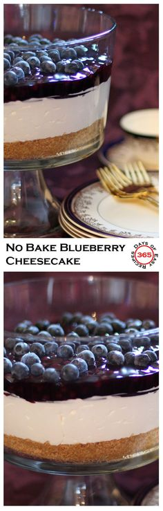 My mom's No Bake Blueberry Cheese Cake. Light, fluffy and oh so delicious!! Not to mention easy.   365 Days of Easy Recipes