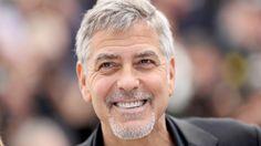 George Clooney trägt die moderne Henriquatre-Bartfrisur