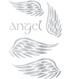 Topography Iron-On Transfers 2 Sheets/Pkg-Metallic Foil Angel Wings