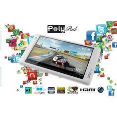 """Polypad 7208HD 8GB 7"""" Tablet   Klavyeli Kılıf Hediye"""