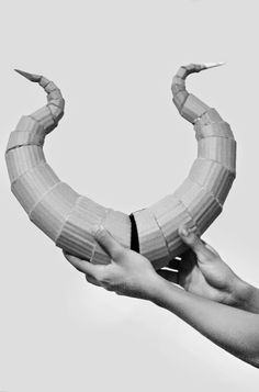 another take on a way to make Maleficent horns: DIY Lightweight Costume Horns