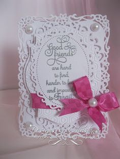 """Spellbinders Decorative Labels 8, Labels 18 and Floral Oval   *card is """"4 x 6 """""""