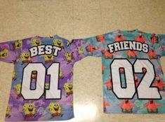 t-shirt spongebob patrick best friend shirts jersey colorful kids fashion
