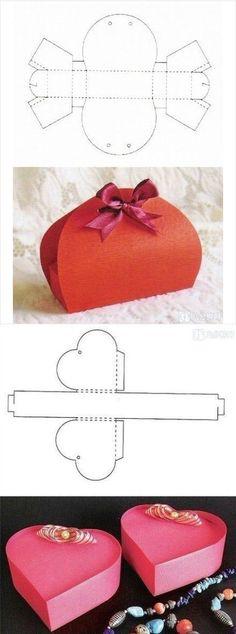 regalos Vegan Cake vegan 7 up cake recipe Diy Gift Box, Diy Box, Diy Gifts, Gift Boxes, Paper Gifts, Diy Paper, Box Patterns, Origami Box, Origami Heart