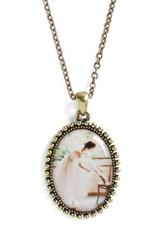 To the Pointe Necklace - Multi, Gold, French / Victorian, Pastel, Top Rated