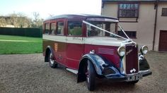 Arrive in style in a Bedford bus