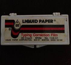 Liquid Paper Correction Film