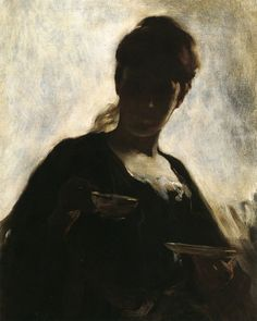 John White Alexander, Woman with a Tea Cup, 1881