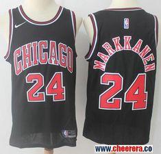 2b31e80c Men's Nike Chicago Bulls #24 Lauri Markkanen Black NBA Swingman Statement  Edition Jersey