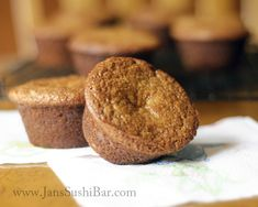 Banana Cinnamon Muffins:  A delightful combination of mashed bananas and ground cinnamon.  Grain and gluten free!